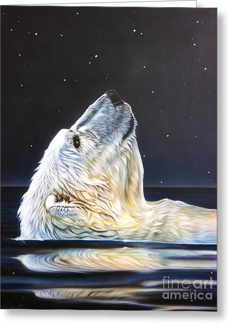 Wolf Song Studio Greeting Cards - North Star Greeting Card by Sandi Baker