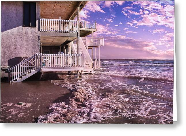 Incoming Tide Greeting Cards - North Topsail Beach Tides that Tell Greeting Card by Betsy C  Knapp