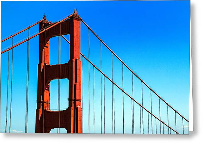 North Sea Greeting Cards - North Tower Golden Gate Greeting Card by Garry Gay