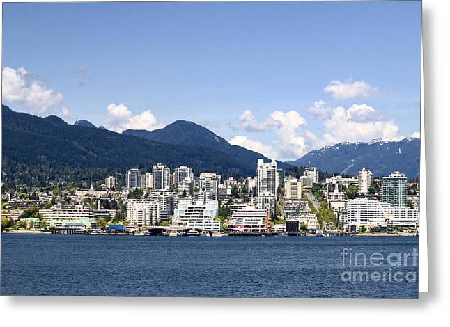 North Vancouver Photographs Greeting Cards - North Vancouver Lonsdale Skyline Greeting Card by Charline Xia