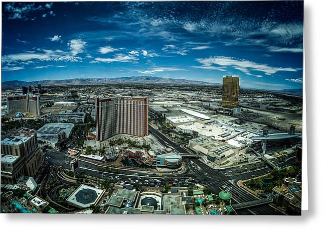 Las Vegas Greeting Cards - North Vegas Strip Greeting Card by Chris Bordeleau