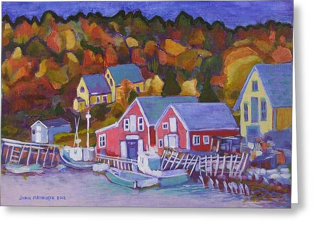 North-west Cove Greeting Card by Janet Ashworth