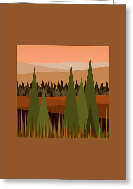Muted Palette Greeting Cards - North West Greeting Card by Val Arie