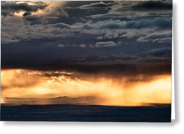 North Wyoming Rain Greeting Card by Leland D Howard