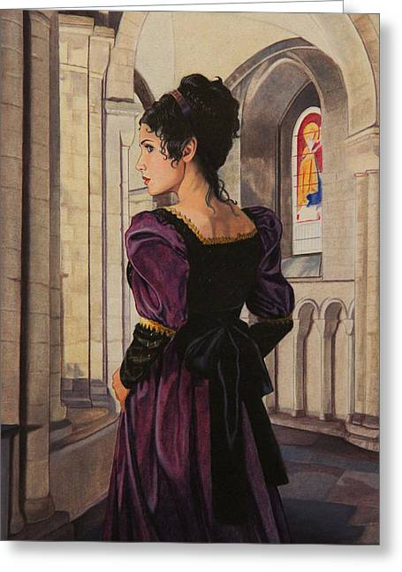 Northanger Abbey Greeting Card by Patrick Whelan