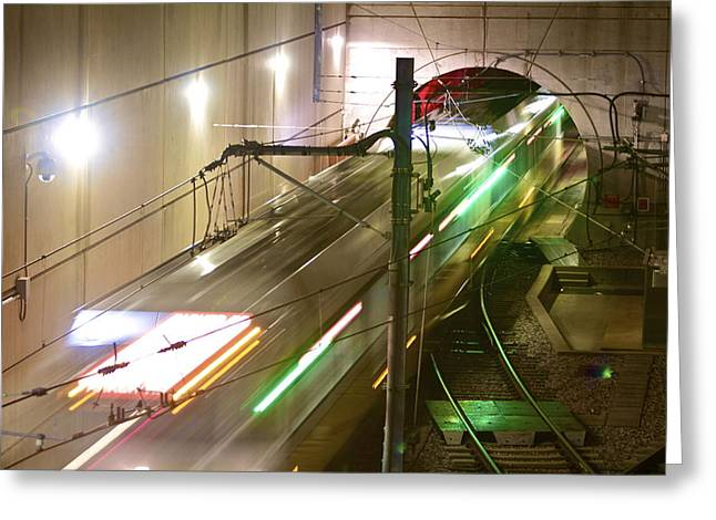 Dart Stations Greeting Cards - Northbound Greeting Card by John Babis