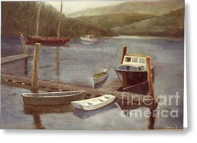 Northeast Harbor Maine Greeting Card by Fred Jinkins