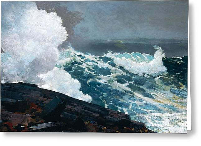 Northeaster Greeting Card by Pg Reproductions