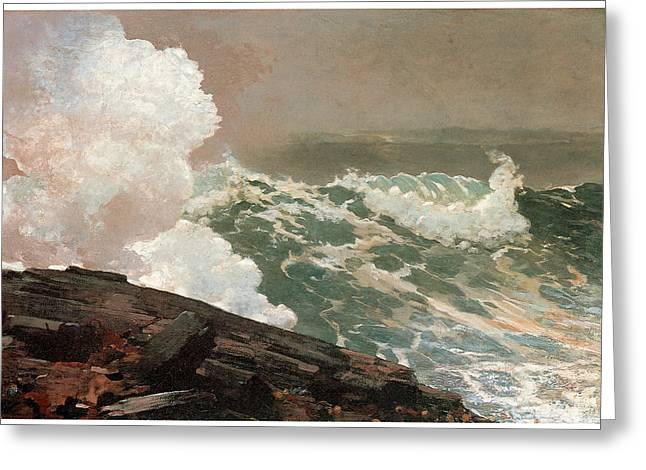 Northeaster Greeting Card by Winslow Homer