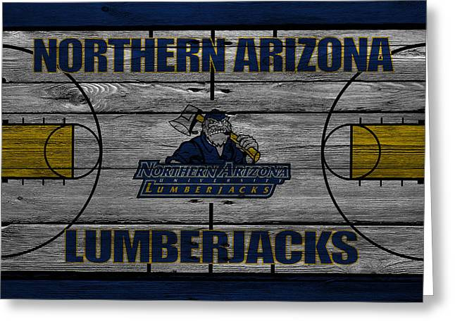 Ncaa Greeting Cards - Northern Arizona Lumberjacks Greeting Card by Joe Hamilton