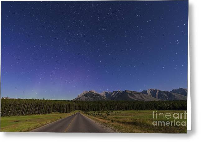 Asterism Greeting Cards - Northern Autumn Constellations Rising Greeting Card by Alan Dyer