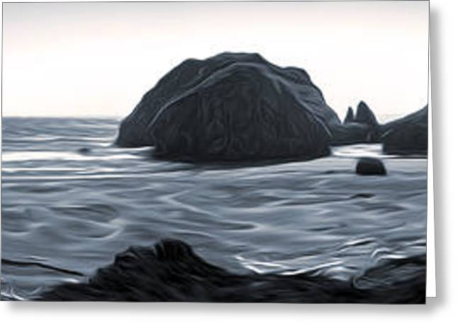 Gregory Dyer Greeting Cards - Northern California Coast - 02 Greeting Card by Gregory Dyer