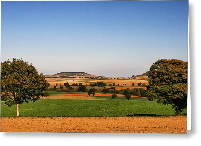 Ferme Greeting Cards - Northern France Landscape Greeting Card by Nomad Art And  Design
