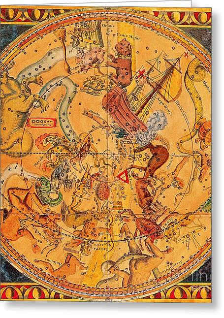 Argo Navis Greeting Cards - Northern Hemisphere Constellations, 1686 Greeting Card by Science Source
