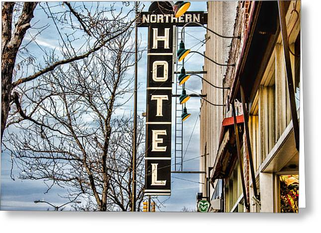 Northern Hotel Greeting Card by Baywest Imaging