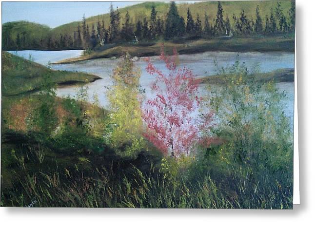 Northern Lake 2 Greeting Card by Joyce Reid