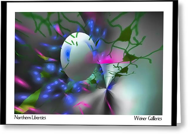 Abstract Movement Greeting Cards - Northern Liberties Greeting Card by David Weiner