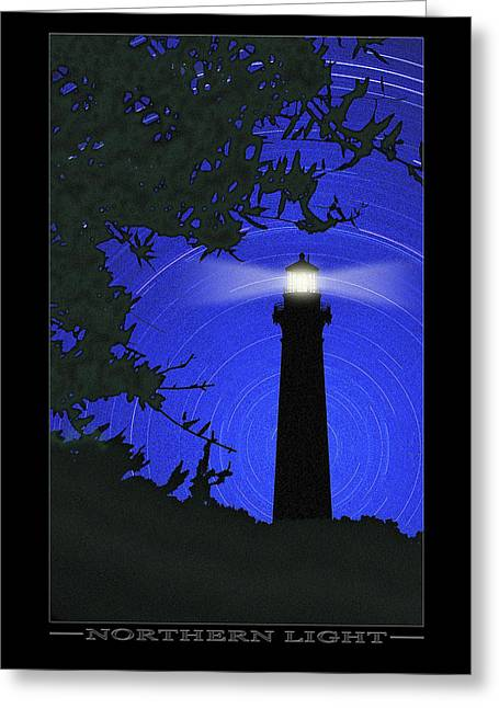 North Star Greeting Cards - Northern Light Greeting Card by Mike McGlothlen
