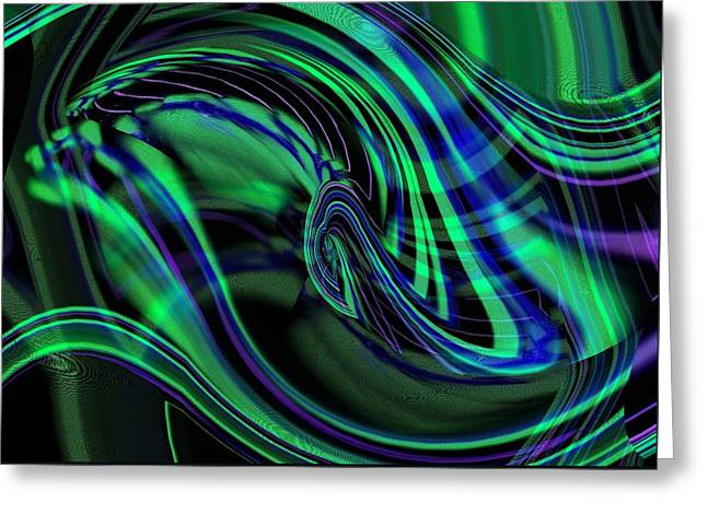 Northern Lights Abstract Greeting Card by Christina Shaskus