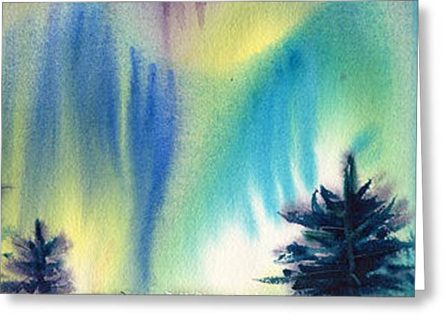 Best Seller Greeting Cards - Northern Lights Greeting Card by Amy Chrisman