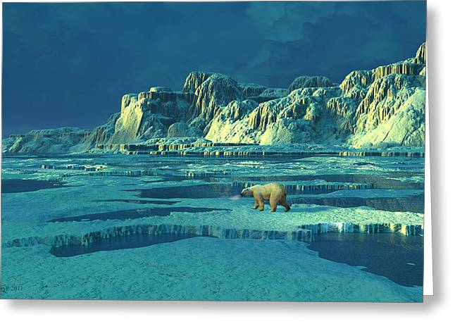 Northern Lights Greeting Card by Dieter Carlton