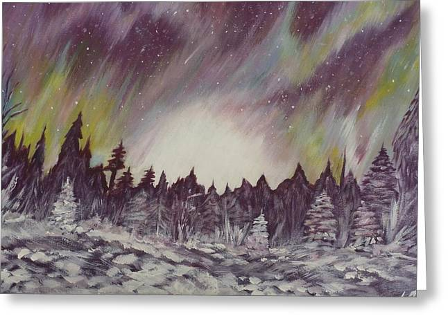 Northern Lights  Greeting Card by Irina Astley