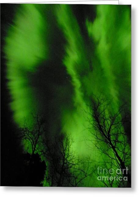 Jennifer Kimberly Greeting Cards - Northern Lights Greeting Card by Jennifer Kimberly