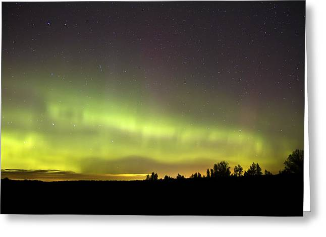 Pulsing Greeting Cards - Northern Lights  Greeting Card by Pierre Leclerc Photography