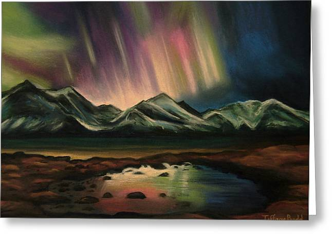 Glowing Pastels Greeting Cards - Northern Lights Greeting Card by Tiffany Budd