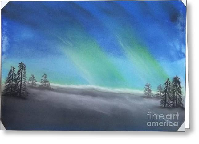 Northern Lights Greeting Card by Tracey Williams
