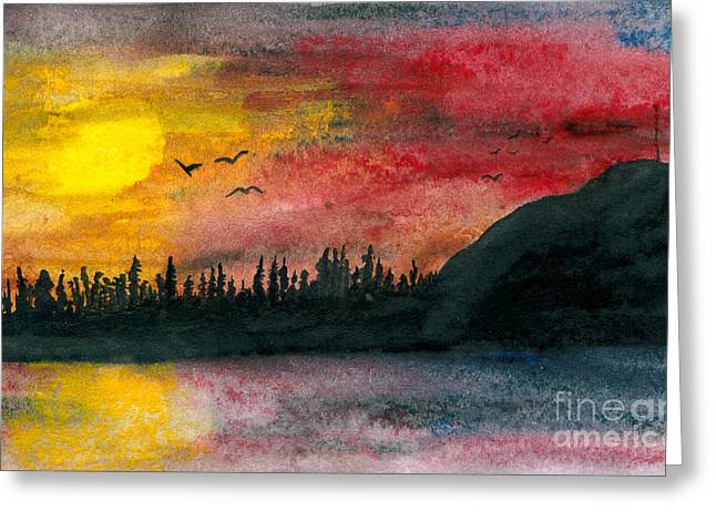 Antenna Paintings Greeting Cards - Northern Limits Greeting Card by R Kyllo