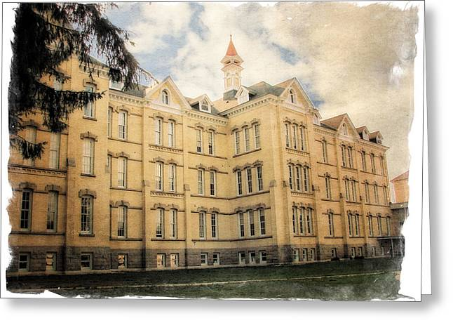 Psychiatric Greeting Cards - Northern Michigan Asylum Greeting Card by Michelle Calkins
