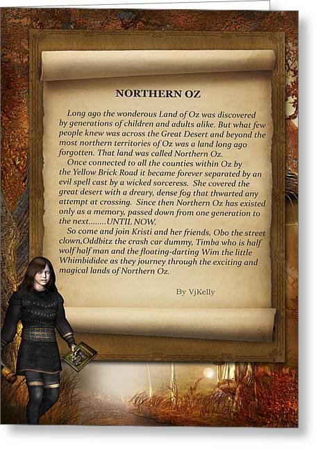 Magazine Cover Mixed Media Greeting Cards - Northern Oz Intro 4 Greeting Card by Vjkelly Artwork