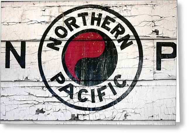 Classic American Railroad Greeting Cards - Northern Pacific Railway  Greeting Card by Daniel Hagerman