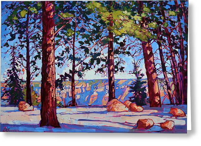 Northern Rim Greeting Card by Erin Hanson