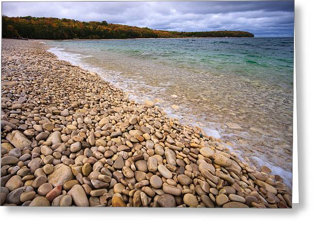 Pebbles Greeting Cards - Northern Shores Greeting Card by Adam Romanowicz