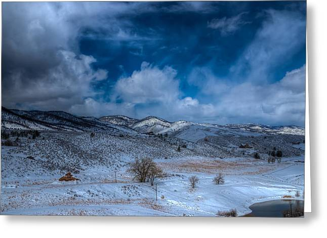 Horsetooth Reservoir Greeting Cards - Northern View from Horsetooth Reservoir Greeting Card by Harry Strharsky