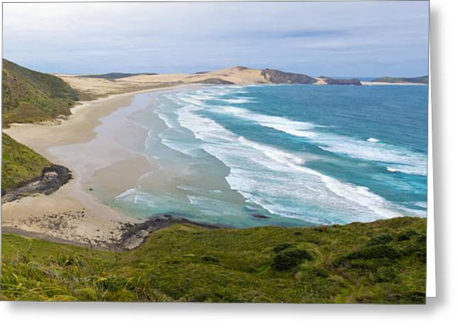 Ninety Mile Beach Greeting Cards - Northland sand beach near Cape Reinga New Zealand Greeting Card by Stephan Pietzko