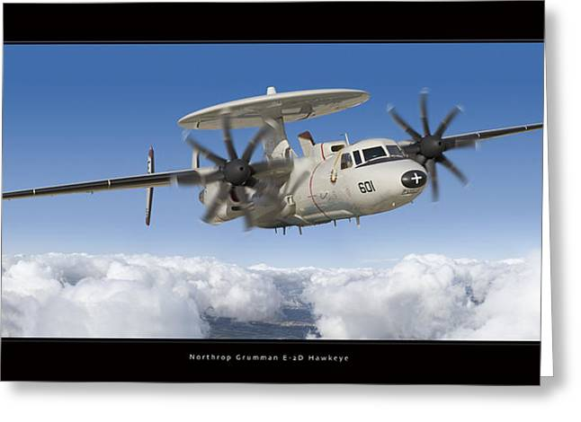 2d Greeting Cards - Northrop Grumman E-2D Hawkeye Greeting Card by Larry McManus