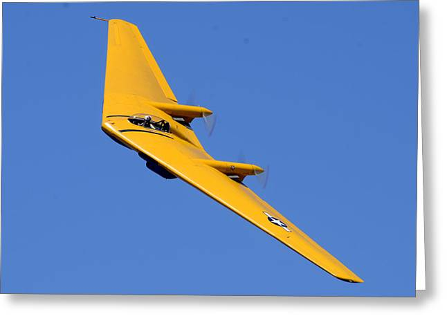 Planes Of Fame Greeting Cards - Northrop N9M-B Flying Wing Camarillo August 17 2013 Greeting Card by Brian Lockett