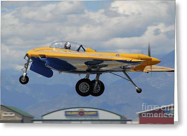 Monoplanes Greeting Cards - Northrop N9m Flying Wing Flying Greeting Card by Phil Wallick
