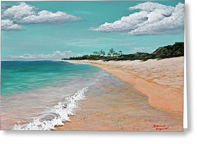 Tropical Oceans Greeting Cards - Northshore Oahu  Greeting Card by Darice Machel McGuire