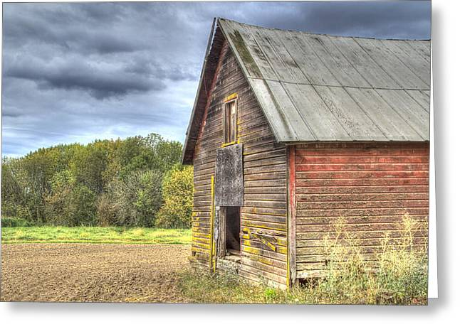 Northwest Barn Greeting Card by Jean Noren