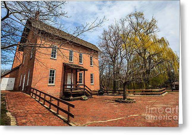 Lake County Greeting Cards - Northwest Indiana Grist Mill Greeting Card by Paul Velgos