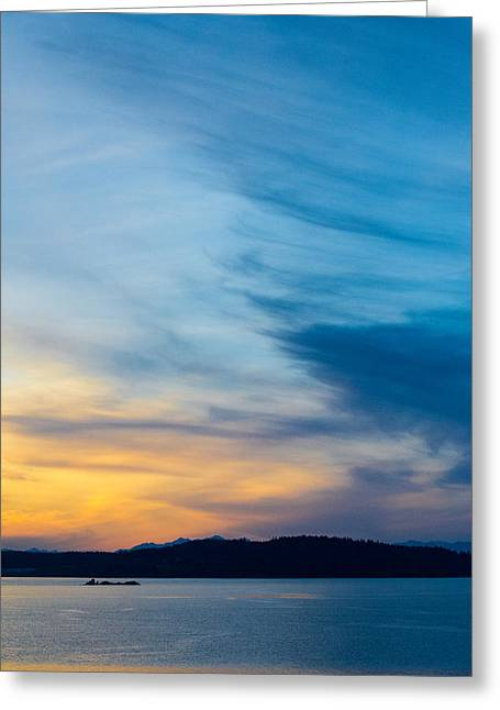 Steilacoom Greeting Cards - Northwest Sunset Greeting Card by Kyle David Cozzens