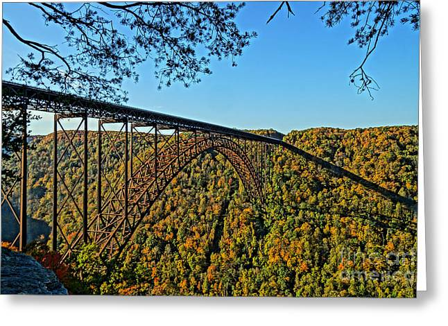 Northwest View Of Gorge Bridge Greeting Card by Timothy Connard