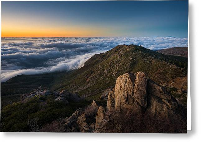 Above The Clouds Greeting Cards - Northwest Views Greeting Card by Alexander Kunz