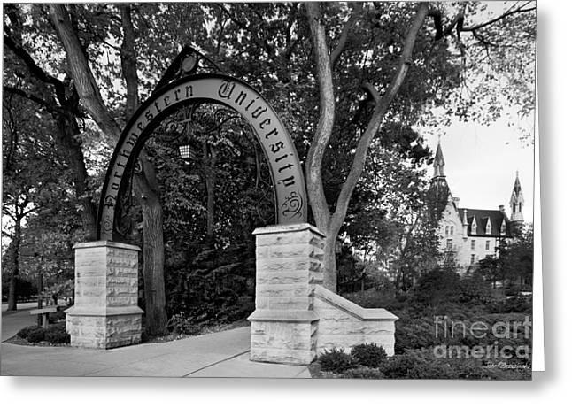 Wildcats Greeting Cards - Northwestern University The Arch Greeting Card by University Icons