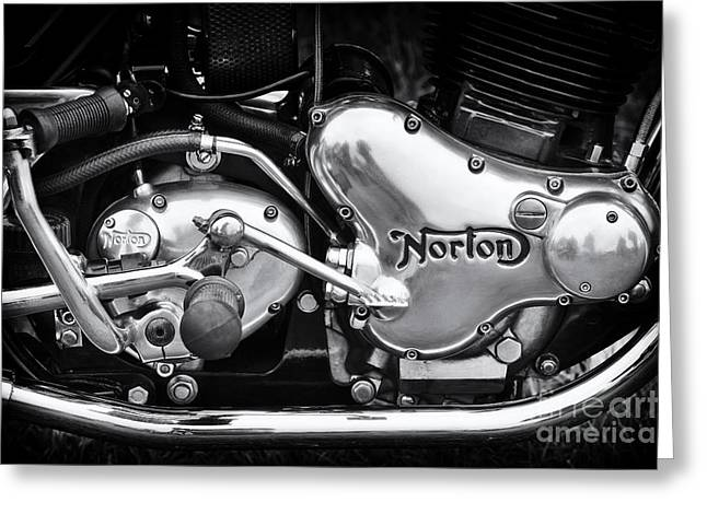 Commandos Greeting Cards - Norton Commando 850 Engine Greeting Card by Tim Gainey