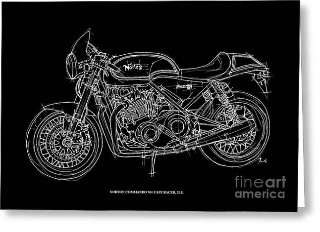 Norton Commando 961 Cafe Racer - 2011 Greeting Card by Pablo Franchi